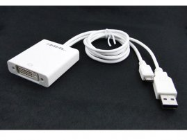 MHL (Micro USB) to DVI Female Cable Adapter