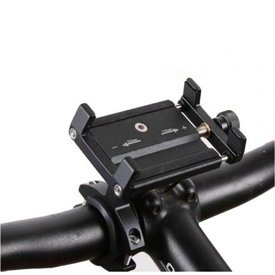 Universal Aluminum Non-Skid Bicycle Motorcycle Handlebar Mount Phone Holder iPhone / Smart Phones - Click Image to Close