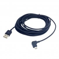 Super Long (5 meter or 16 feet) Angled Micro USB Cable for Data Sync and Charging for Android Phones