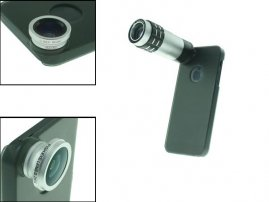 9X Telephoto / Fisheye / Wide Angle Lens Set for iPhone 5s / 5