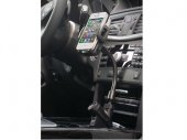 Auto/Car Cigarette Mount with Cigarette Charger Socket & 2 USB Ports for iPhone / SmartPhones