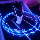 WATER FLOWING LED LIGHT USB Charge Cable for iPhone