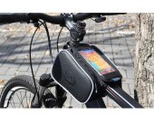 Cycling Bike Bicycle Front Top Tube Frame Pannier / Double Bag / Pouch for 5.5in (or Smaller) Phones