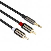 30 Feet (10 Meters) 3.5mm Aux Audio Male to RCA Male Stereo Audio Extension Cable