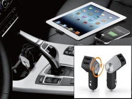 Rotatable 3100mA Dual USB Car Charger for iPhone / iPod / Samsung Galaxy / LG / HTC / Sony Phones