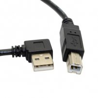 1 meter Angled USB Type-A Male to USB Type-B Male Cable for Printer / Scanner / Fax Machine / Copier