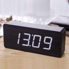 Giant Wood Grain LED Alarm Digital Clock with Thermometer (Rectangle / Timer / Temperature)
