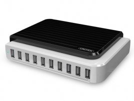10-Port 105 Watt USB AC Charging Station for Smart Phones & Tablet PCs(iPhone / Galaxy S5 / Note 3)