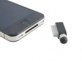 2-in-1 Dock Dust Protector and Stylus for OLD (30 pin Dock) iPhones / iPads / iPods