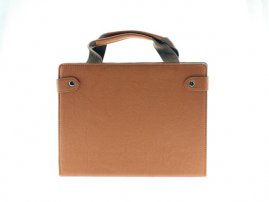 Business Suitcase Hand Bag Style / Stand Leather Case for iPad 4