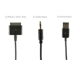 Audio transmitter Cable for iPhone / iPad / iPod