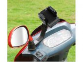 Motorcycle Handlebar Rearview Mirror Bolt Mount, Holder for Smartphone / iPhone / GPS