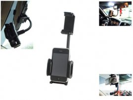 Universal Car RearView Mirror Mount for iPhone / LG, Sony Xperia, HTC, Samsung Galaxy Smart Phones