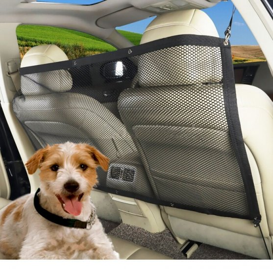 Car Pet, Kid Barrier / Vehicle Backseat Mesh / Universal Elastic Safety Seat Net / Disturb Stopper - Click Image to Close