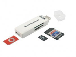3-in-1 SIM + T-Flash + MS Duo Card Reader