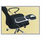 Adjustable Computer Desk and Chair Extender with Wrist Support Pad for Home / Office Use