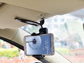 Car Sun Visor Mount (Holder) for iPhone / Galaxy Note / Galaxy S8 / HTC / LG Smarphones