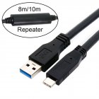 10M USB-C USB 3.1 Type C Male to USB3.0 Type A Male Data GL3523 Repeater Cable for Tablet & HDD