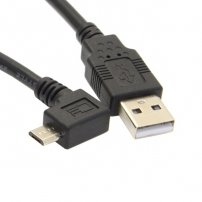 High Speed Super Long 5 meters (16 feet) 90 Deg Angled USB Micro Extension Cable for Android Phones