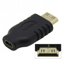 Micro HDMI 1.4 Type D Female to Mini HDMI 1.4 Type C Male Adapter Converter for HDTVs
