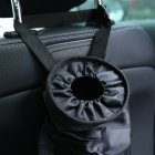Auto Trash Bag / Vehicle Garbage Bag / Back Seat Hanging Rubbish Bag / Leakproof w/ Adjustable Strap