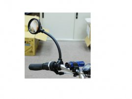 Screw-Lock Bicycle Handlebar / Tube Rear View (Rearview) / Look Back (Fisheye) Mirror
