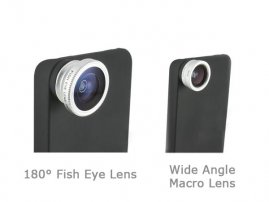 180&deg Fisheye + Wide Angle (+Marco ) Lens for iPhone 4 / 4s