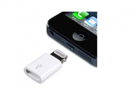 OEM New iPhone / iPad 8-pin Lightning Plug to Micro USB Socket Converter / Adapter / Connector