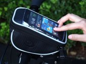 Bike / Bicycle Front Top Frame Handlebar Bag (1.2L) With Waterproof Pouch for 5.5in Cellphone
