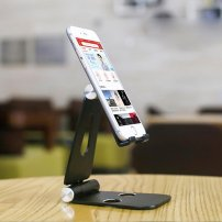 Minimalistic Cell Phone Stand / Phone Dock for iPhone / Smartphones for Charging / Live or Chats