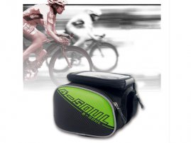 Bike / Bicycle Frame Pannier / Rack Bag / Tube Bag with Detachable Waterproof Phone Bag