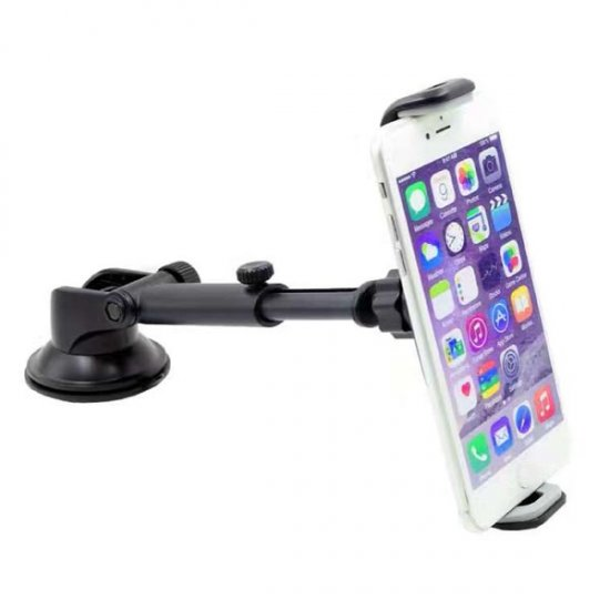 "Adjustable / Extendable Arm Windshield Mount for iPad Mini / 7.0"" Tablets / iPhone / Smartphones - Click Image to Close"