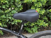 "10.6""*7.9"" High Rebound Foam Bike Seat for Cruiser Bike, Comfortable Cycling"