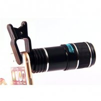 Cloth-Clip 12X Telephoto / Telescope Lens for iPhone / iPad / Samsung / LG / HTC / Sony SmartPhones