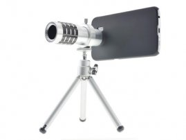 Metal Casting 12X Telephoto (Zoom / Long Range Telescope) Lens for Samsung Galaxy S6 / GT-i9800