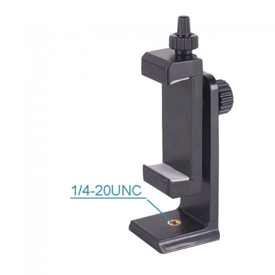 Universal Clamp for using Cell Phone / iPhone vertically & horizontally with Adjustable Firm Holder - Click Image to Close