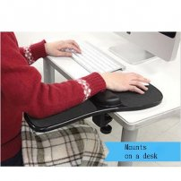 Deluxe Adjustable Computer Desk Extender / Chair Armrest with Wrist Supporting Pad