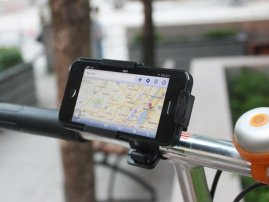 Custom-Fit Bicycle / Bike Handlebar Mount & Holder for iPhone 5s