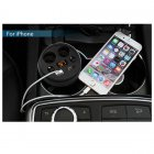 Cup Holder Size Car Charger w/ 2 USB Ports, 2 Cigarette Lighter Sockets for Charging iPhone, Phones