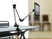 Adjustable Extra Long / Arm Extension Table / Desk / Shelf Mount / Holder For iPad / Tablet Computer