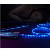 Visible LED Flowing Light USB-C USB Charging & Data Sync Cable for Android Smartphones