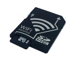 SD to Micro SD / Micro SDHC Memory Card Adapter with Wi-Fi / WiFi for Instant Files / Pics Sharing