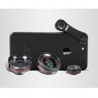 High Definition Super Wide Angle Lens, Macro Lens & Portrait Lens Deluxe Set for iPhone / Smartphone