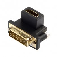 90 Degree Down Angled DVI Male to HDMI Female Swivel Adapter for Computer & HDTV