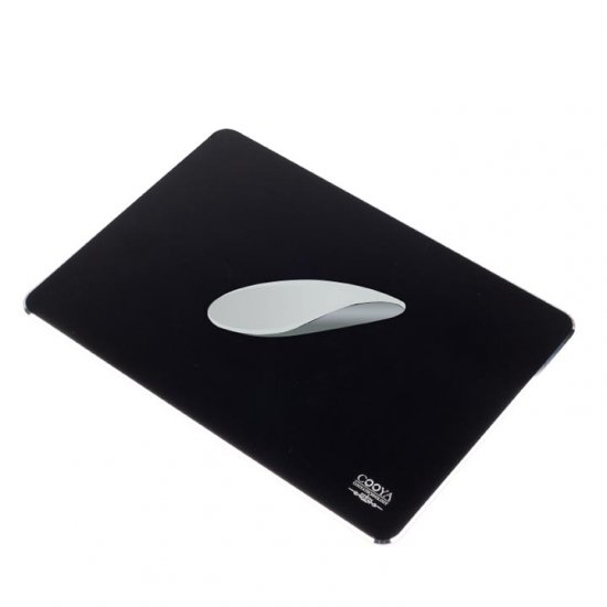Aluminum Mouse Pad with Non-slip Rubber Base for Gaming or Work - Click Image to Close