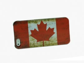 Retro Canadian National Flag Pattern Protective Case for iPhone5