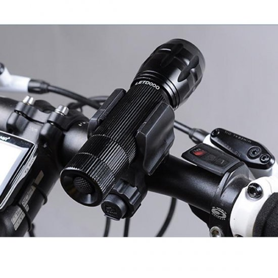 Quick Release Bike / Bicycle Flashlight Mount / Flashlight Clamp / Flashlight Holder, Bracket - Click Image to Close