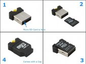 Super Miniature Micro SDHC USB Card Reader