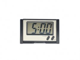 Rectangle Car / Truck Dashboard / Desk LCD Display Digital Clock with Back Self Adhesive and Stand
