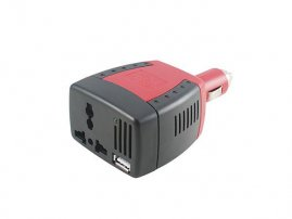 Power Inverter with Additional USB socket (110V, 75W)